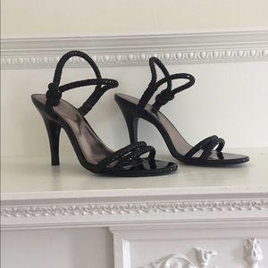 Calvin Klein Size 7 1/2 Black Heels Strap